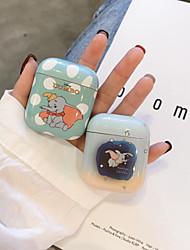 Недорогие -Защитный чехол Животный дизайн Простой стиль Прочный Apple Airpods Защита от удара Скретч-доказательство Пластиковый корпус