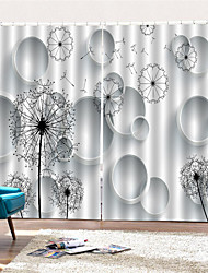 Недорогие -3d цифровая печать европейский уединение две панели занавески для ванной комнаты спальня декоративные шторы шторы