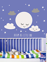 Недорогие -милая улыбка лицо облако звезда настенные палочки детская комната детский сад детская спальня самоклеящиеся палочки для обоев декоративные наклейки на стену - плоские наклейки на стену натюрморт