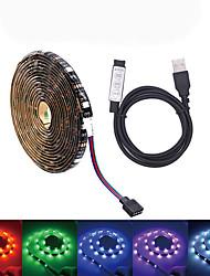 Недорогие -5 метров Наборы ламп 150 светодиоды SMD5050 RGB Водонепроницаемый / USB / Для вечеринок 5 V / Работает от USB 1 комплект / Самоклеющиеся