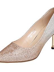 Недорогие -Жен. Обувь на каблуках Туфли на шпильках На шпильке Синтетика Весна Золотой