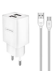 Недорогие -LETANG Портативное зарядное устройство Зарядное устройство USB Евро стандарт Нормальная 2 USB порта 2.1 A DC 5V для S9 / S9 Plus / S8 Plus