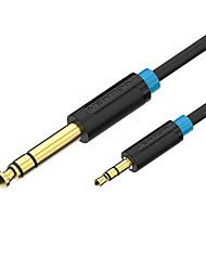 Недорогие -♦ au 3.5 3.5 mm au 3.5 адаптер 3,5 мм до 6,35 мм для усилителя микшера Гитара в двух направлениях Гнездо 6,5 до 3,5 Гнездовой штекер Аудиокабель 5м