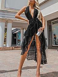 Недорогие -Жен. Элегантный стиль А-силуэт Платье Кружева Ассиметричное