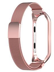 Недорогие -ремешок для часов для mi band 4 / mi band 3 xiaomi milanese loop браслет из нержавеющей стали с ремешком