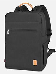 Недорогие -WIWU ноутбук 20 л рюкзаки 14-дюймовый ноутбук / 15,6-дюймовый ноутбук пригородных рюкзаков из нейлона волокна сплошного цвета для мужчин для офиса для путешествий шок доказательство
