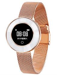 Недорогие -x6 леди умный браслет ip68 водонепроницаемый стальной ремешок мониторинг сердечного ритма артериальное давление умные часы женщины smartwatch