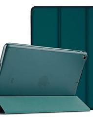 Недорогие -Кейс для Назначение Apple iPad (2018) / iPad (2017) Защита от удара / Защита от пыли / Флип Чехол Однотонный Твердый Кожа PU / ТПУ