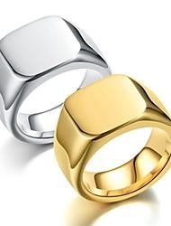 Недорогие -Муж. Кольцо Хвост 1шт Золотой Серебряный Нержавеющая сталь Титановая сталь Круглый Винтаж Классический Мода Подарок Повседневные Бижутерия Cool