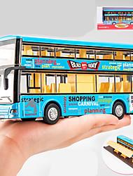 Недорогие -Игрушечные машинки Строительная техника Автобус Двухэтажный автобус моделирование Игрушки Подарок