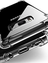 Недорогие -Кейс для Назначение SSamsung Galaxy J7 (2017) / J7 / J5 (2017) Защита от удара / Защита от пыли Кейс на заднюю панель Прозрачный Мягкий ТПУ