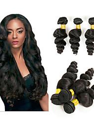 voordelige -6 bundels Braziliaans haar Los golvend Niet verwerkt Menselijk Haar Menselijk haar weeft Bundle Hair Een Pack Solution 8-28inch Natuurlijke Kleur Menselijk haar weeft Geurvrij Gemakkelijke dressing