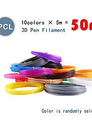 Недорогие -myriwell pcl 1.75 мм нить накала 10 цветов 5 м случайный выбранный цвет 3d напечатан pcl 1.75 мм 3d ручка пластиковая 3d принтер pcl накаливания 3d ручки abs экологическая безопасность