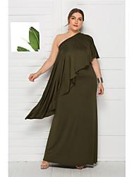 Недорогие -Жен. Элегантный стиль С летящей юбкой Платье - Однотонный Макси