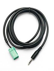 Недорогие -Кабель 3,5 мм для стерео аудио линейного кабеля CD для Renault Clio / Megane / Laguna / Espace Aux