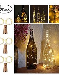 Недорогие -6pcs три кнопки кнопки кнопки 20 светильника шнура 2m вина вел шнур света пробки формы бутылки бутылки пробки света светильника рождества партии украшения бутылки пробки света