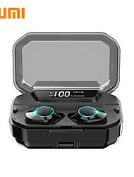Недорогие -Kumi T3S TWS True Wireless Наушники-вкладыши Bluetooth-гарнитура Bluetooth 5.0 стерео светодиодный дисплей автосопряжение ipx6 водонепроницаемый 3300 мАч чехол для зарядки Smart Touch 6D объемный бас