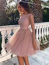 Недорогие -Жен. Оболочка Платье - Однотонный До колена