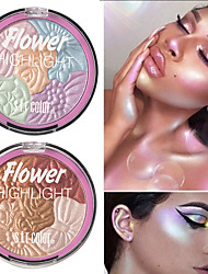 Недорогие -5 цветов цветы глянцевая пудра ремонт емкость порошок прочный водонепроницаемый осветляющий цвет лица копия порошок глянцевая косметика
