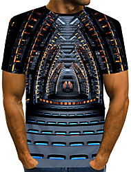 povoljno -Majica s rukavima Muškarci Ležerno / za svaki dan Geometrijski oblici Crn US42 / UK42 / EU50