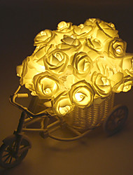 Недорогие -2.5м роза в форме струнных огней 20 светодиодов многоцветная вечеринка свадьба валентина рождество декоративные / цвет градиента а. А. С питанием от батареи 1 шт.