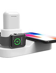 Недорогие -3 в 1 беспроводное зарядное устройство us plug eu plug с кабельным магнитом многофункциональное беспроводное зарядное устройство для airpods smartwatch мобильного телефона