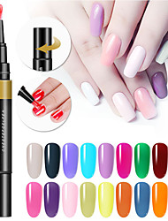 Недорогие -24 цвета 3 в 1 гель лак для ногтей ручка ногтей советы советы уф-гель лак гибрид один шаг сахар ногти клей не нужно верхнее базовое покрытие