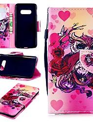 Недорогие -Кейс для Назначение SSamsung Galaxy S9 / S9 Plus / S8 Plus Кошелек / Бумажник для карт / Защита от удара Чехол С сердцем Твердый Кожа PU