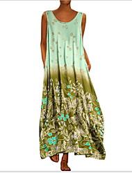 Недорогие -Жен. С летящей юбкой Рубашка Платье - Цветочный принт Макси