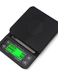 Недорогие -3000 г / 0,1 г кухонные весы капельного кофе с функцией таймера электронные цифровые кухонные весы с 1 лотком