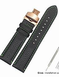 Недорогие -Настоящая кожа / Кожа / Шерсть теленка Ремешок для часов Ремень для Черный Прочее 2cm / 0.8 дюймы / 2.2cm / 0.9 дюймы / 2.3cm / 0.91 дюймы