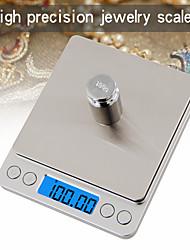 Недорогие -500 г / 0,01 г жк-цифровой экран с автоматическим выключением электронные кухонные весы цифровые ювелирные весы мини карманные цифровые весы с 2 лотками