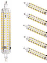 Недорогие -6шт 15 W LED лампы типа Корн Люминесцентная лампа 1500 lm R7S T 164 Светодиодные бусины SMD 2835 Диммируемая Новый дизайн Тёплый белый Белый 220-240 V 110-120 V