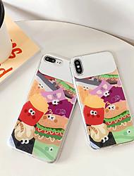 ราคาถูก -Case สำหรับ Apple iPhone XS / iPhone XR / iPhone XS Max IMD / Mirror / Pattern ปกหลัง อาหาร / การ์ตูน TPU