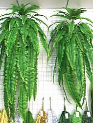 Недорогие -1 шт. Моделирование зеленое растение на стене большой персидский трава персидское железное дерево мох завод поддельные мозаика украшения аксессуары зеленые цветы и растения