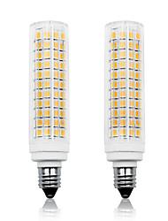 Недорогие -Loende 2шт 11w светодиодные кукурузные фонари 750 лм E11 T 136 светодиодные шарики smd 2835 затемнения теплый белый белый 110-130 В 200-240 В