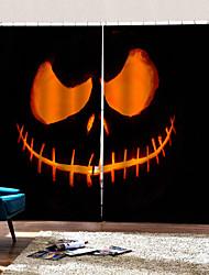 Недорогие -Счастливый Хэллоуин тема дьявол фон шторы теплоизоляция пользовательские стержень набор занавес новый 3d печать hd исчезают занавес