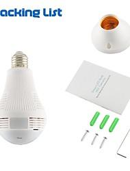 Недорогие -Inqmega 960p 360 градусов светодиодный свет беспроводной панорамный домашней безопасности безопасности Wi-Fi видеонаблюдения рыбий глаз лампа ip-камера два способа аудио