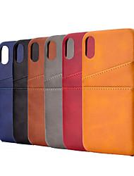 Недорогие -чехол для яблока iphone xs / iphone xr / iphone xs max / 7 8 plus / 6splus / 6s держатель карты задняя крышка линии / волны искусственная кожа