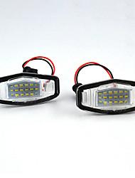 povoljno -2pcs / set led svjetla registarskih tablica za honda accord civic city city odyssey mr-v / pilot