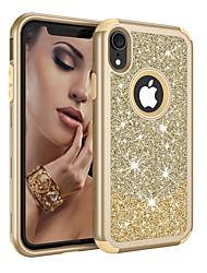 Недорогие -Кейс для Назначение Apple iPhone XS / iPhone XR / iPhone XS Max Защита от удара / Защита от пыли / Сияние и блеск Чехол Сияние и блеск / Градиент цвета ТПУ / ПК