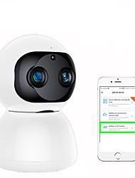 Недорогие -1080p 2-мегапиксельная двойная линза беспроводная IP-камера Wi-Fi безопасности видеонаблюдения P2P ночного видения двухстороннее аудио радионяня