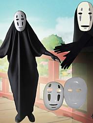 Недорогие -Вдохновлен Унесенные призраками Не лицо человека Аниме Косплэй костюмы Японский Косплей Костюмы трико / Комбинезон-пижама / Перчатки / Маски Назначение Муж.