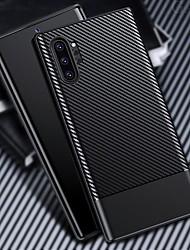 Недорогие -чехол из углеродного волокна для Samsung Galaxy Note 10 Plus Galaxy Note 10 силиконовый чехол