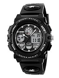 Недорогие -Skmei бренд мужские спортивные часы военные часы случайные светодиодные цифровые часы многофункциональные наручные часы 50 м водонепроницаемые студенческие часы