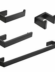 Недорогие -нержавеющая сталь sus304 матовый черный серебристый аксессуары для ванной комнаты набор полотенцесушитель халат крючок держатель бумаги q8-4