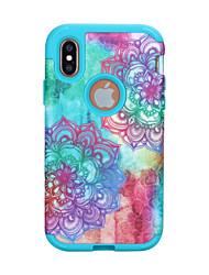 ราคาถูก -Case สำหรับ Apple iPhone XS / iPhone XR / iPhone XS Max Shockproof ปกหลัง เลขาคณิต / ดอกไม้ / Marble TPU / พีซี
