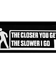 Недорогие -автомобиль стильный чем ближе вы становитесь тем медленнее я иду буквы предупреждающие наклейки