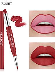 billige -1 pcs 10 farver Daglig makeup Kreativ / Let at bære / Læber Mat Bærbar / Holdbar Matte / Ny ankomst Makeup Kosmetiske Plejemidler