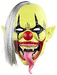 Недорогие -Хэллоуин маска страшного клоуна с волосами для взрослых костюмированная вечеринка